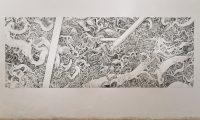 Agreement II, 2012 | 400cm x 150cm | Crayon on Paper