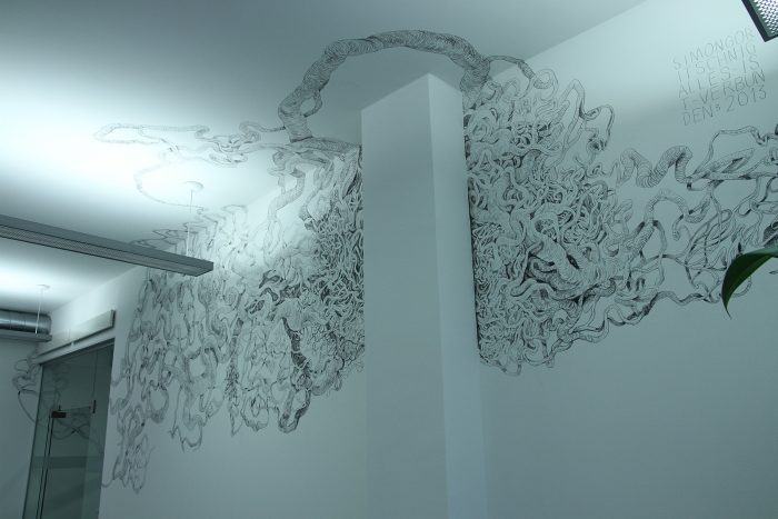 Exhibition View | Drawing: Everything is connected III, 2013