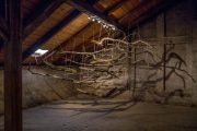The Sublime III, 2015 | 250cm (X) x 250cm (H) x 130cm (Z) | Dead wood, strings