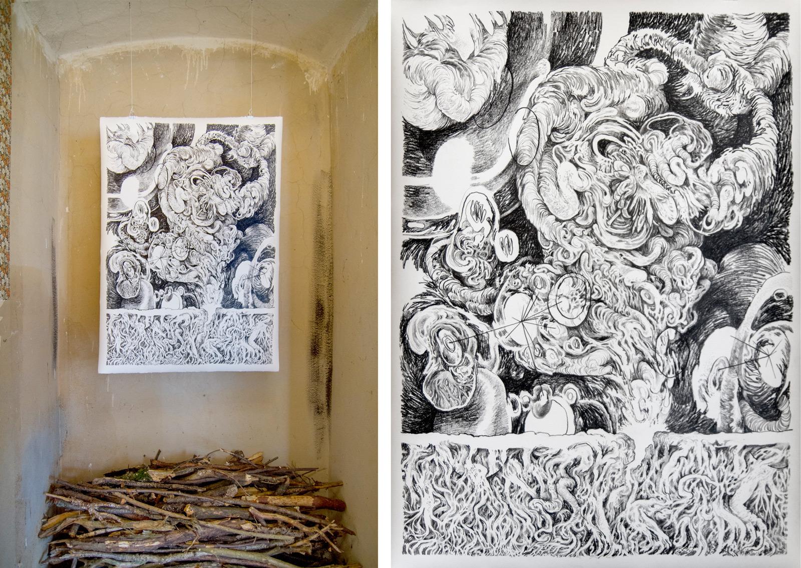 A Life VI, 2014 | Crayon on paper | 76 x 108 cm