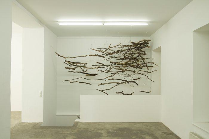 The Sublime, 2013 | 250cm (X) x 350cm (Y) x 120cm (Z) | Dead wood, strings